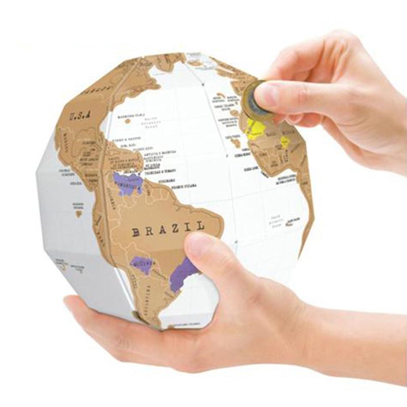 Гаджет  LS4G 3D Globe World Map Build Explore Scratch Personal Traveling Memory DIY Gift None Офисные и Школьные принадлежности