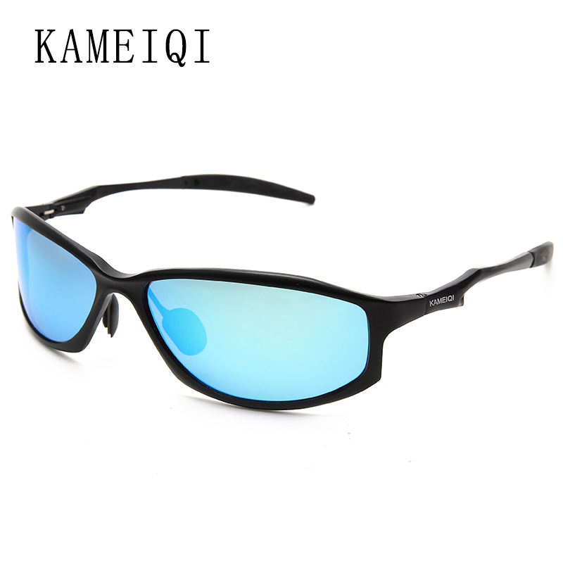 trendy eyewear hufo  KAMEIQI 2017 polarized sunglasses men sunglasses glasses frame sport style  Aluminum Magnesium material male sun glasses 2018