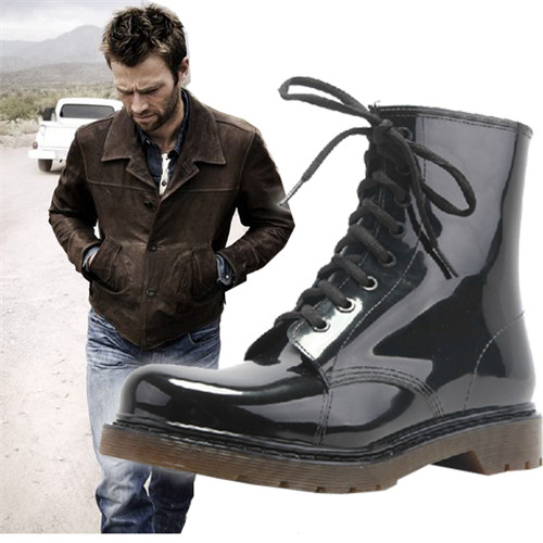 Fashion men boots martin rainboots slip-resistant Waterproof Rain Boots Casual botas de agua<br><br>Aliexpress
