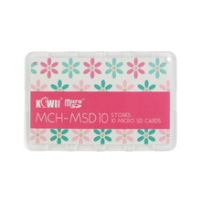 Kiwi MSD10P Credit Card Size Lightweight Portable Memory Card Case Holder Protector With Writable Label For 10 Micro SD Cards(China (Mainland))