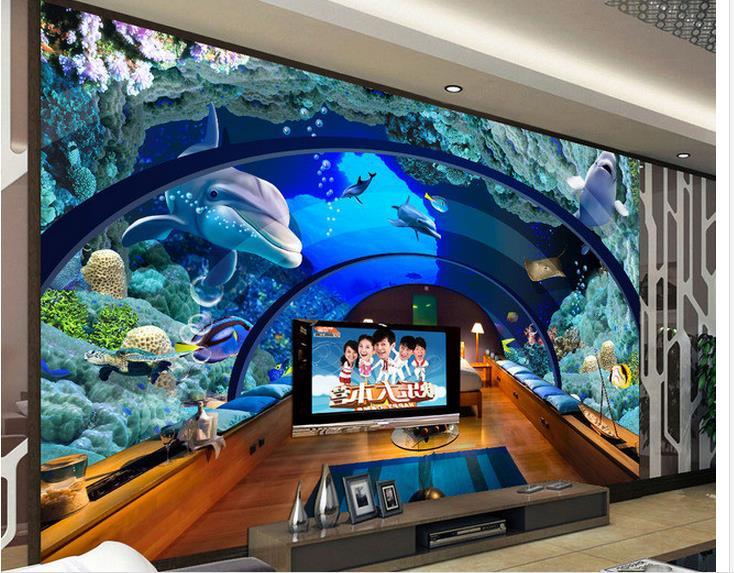 Achetez en gros milieux d 39 aquarium sur mesure en ligne - Fond aquarium 3d ...