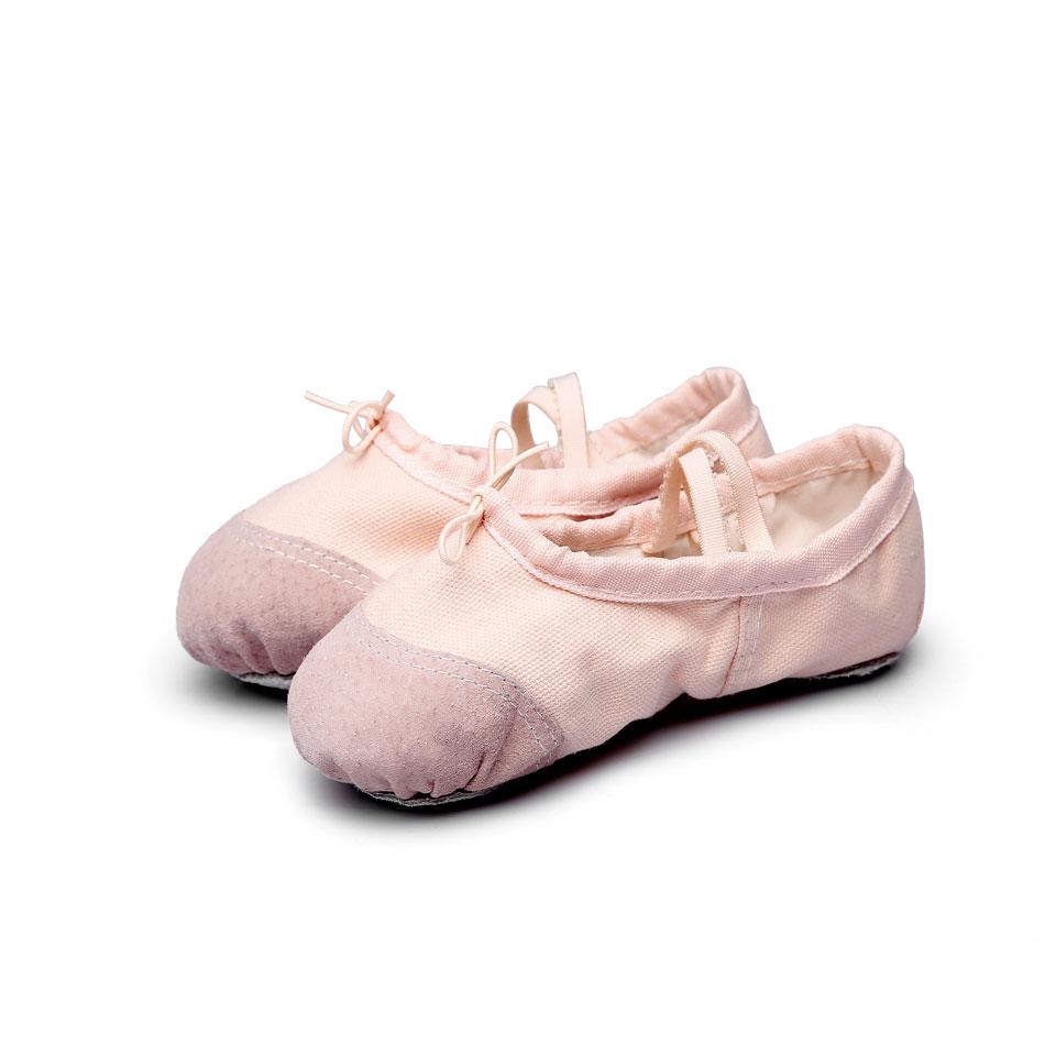 MSMAX Canvas Ballet Slipper for Girls Split Sole Dance Yoga Flats