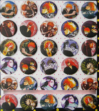 Bleach 4.3 CM 30 pieces/lot set PIN BADGES new Cartoon& animation PIN back BUTTONS PARTY BAG GIFT CLOTH