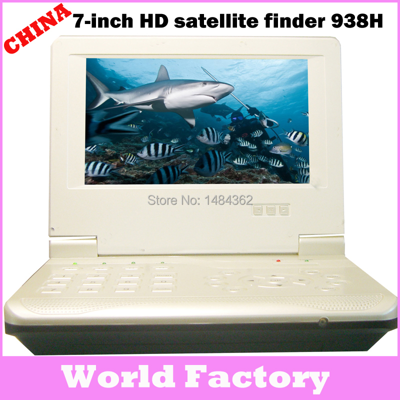 Factory sales HDMI HD 7 inch TFT LCD widescreen monitor HD satellite finder hdtv with hdmi output WF938h(China (Mainland))