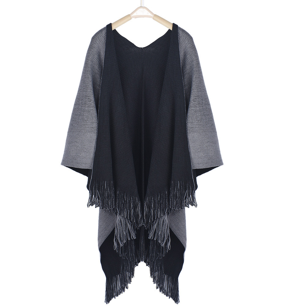 Women Winter Spring Knitted Cashmere relogio feminino Poncho Capes Shawl Cardigans Sweater Coat Comfortable