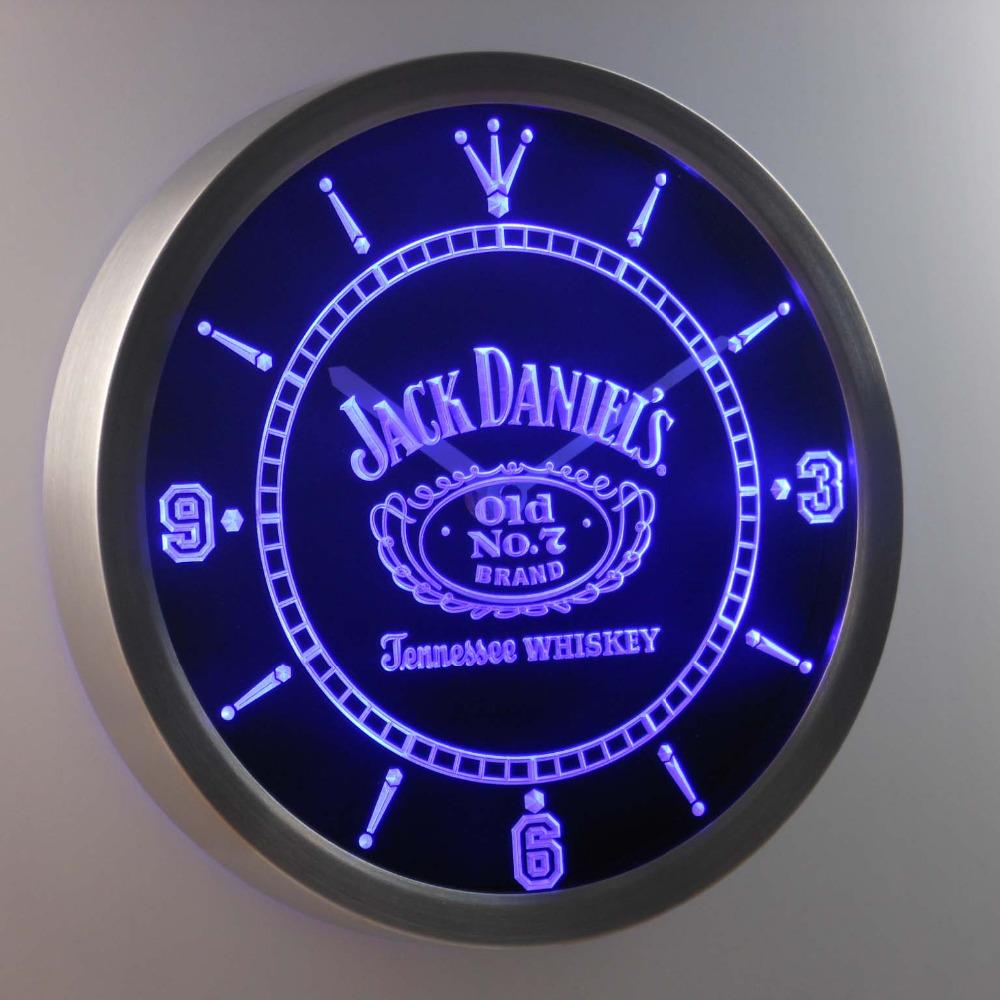 nc0477 Jack Daniel's Whiskey Neon Sign LED Wall Clock (a048-b design)(China (Mainland))