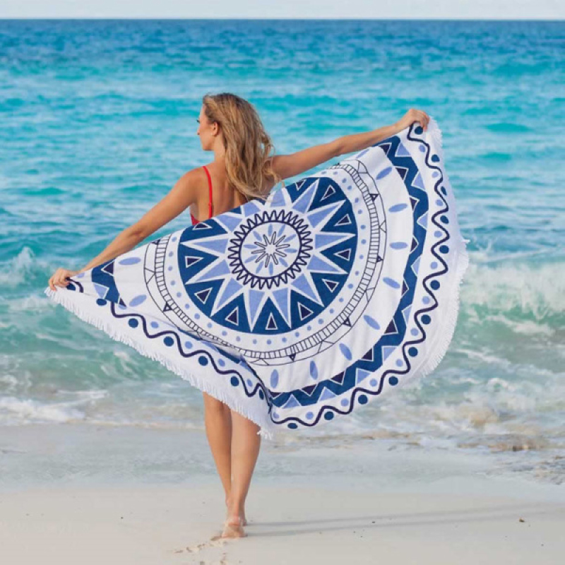 Indian Boho Round Hippie Tapestry Wall Hanging Tapestries Printed Beach Picnic Throw Towel Yoga Mat Blanket Home Decor