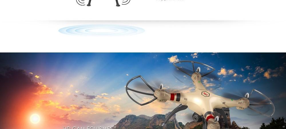 Syma X8HC With 2MP HD Camera 2.4G 4CH 6Axis Altitude Hold Headless Mode RC Quadcopter RTF VS Syma X8C X8W X8HW