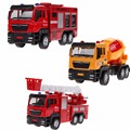 1pcs 1 55 Sliding Alloy Car Truck Model Children Toys Fire Engine for Baby Chirstmas Birthday