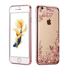 יוקרה החדש rhinestones ציפוי tpu מקרי סיליקון case עבור iphone 7 בתוספת 6 s מקרי iphone 6 בתוספת 5S 5 case כיסוי אחורי(China (Mainland))
