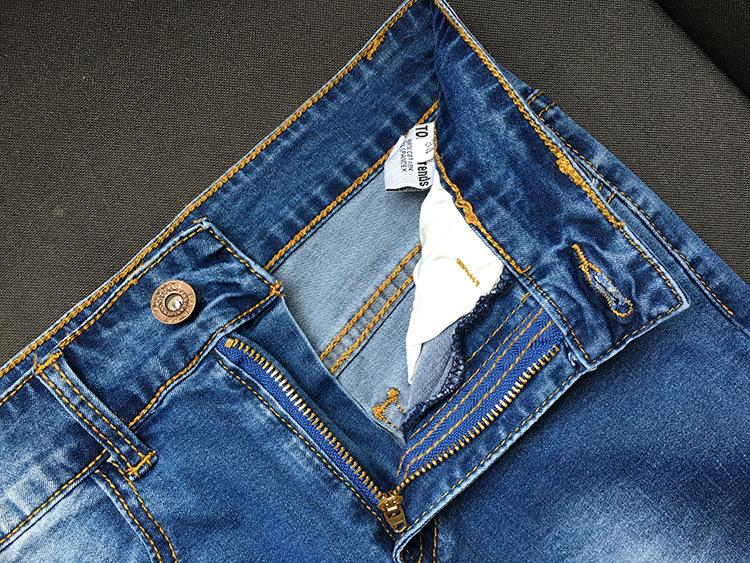 Скидки на Европа Мода Ripped Завышенной Талией Кисточкой Эластичные Джинсы Тощий Карандаш Брюки Женщины 2016 Новые Случайные Леггинсы Jeggings