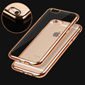Fashion Shell Plating TPU Soft Cover Phone Case For Apple iPhone 5 5s 6 6s 6Plus
