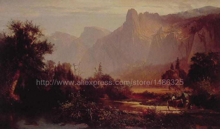 Yosemite Valley wall art large canvas arts and crafts modern painting High quality gifts canvas picture restaurant(China (Mainland))