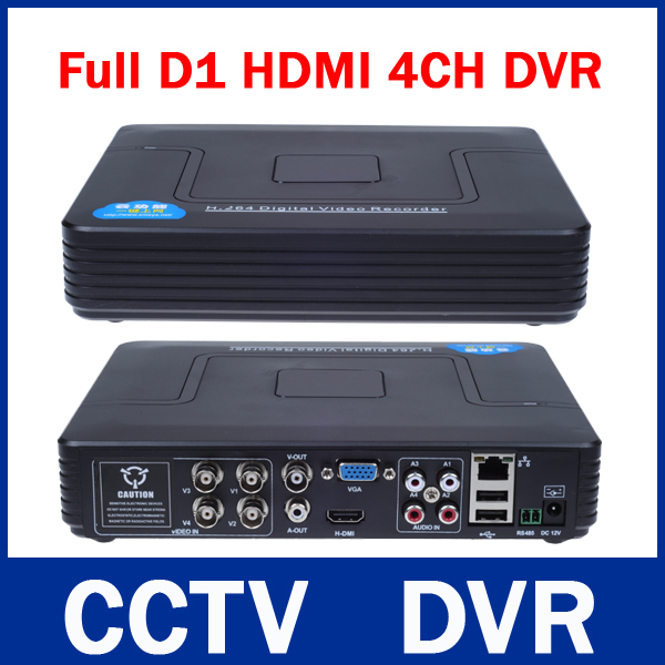 New Mini 4CH Full D1 DVR Real time Recording 4 Channel Standalone CCTV DVR HDMI Output