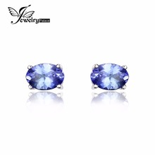 JewelryPalace Стерлингового Серебра 925 1ct Природный Танзанит Серьги Заявление Серьги для Женщин Fine Jewelry(China (Mainland))