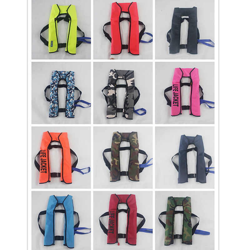 New Automatic Inflatable Life Jacket 5 Seconds Quick Inflate And Produce Above 15kg Buoyancy Life Vest(China (Mainland))
