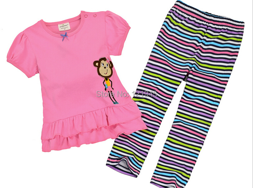 wholesale 6sets/lot 1~6years new 2015 new brand kids summer sets letters cotton 2pcs set baby girl T-shirts and shorts set 2431#<br><br>Aliexpress