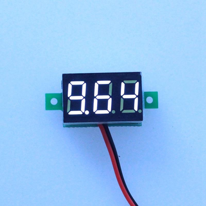 1PCS White Led display color DC 3-30V car digital volt voltage panel meter gauge auto voltmeter battery monitor Free shipping(China (Mainland))