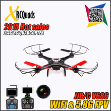 5.8G Hz WLtoys V686 V686G (FPV Version) 4CH Drone block toy Quadcopter JJRC V686 HD Camera RTF Drone Headless Mode light-up toy