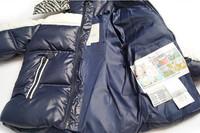 высокое качество детей одежда установить ветрозащитный теплых вниз пальто с капюшоном мех дети зимы России стиль меховая куртка + нагрудник брюки