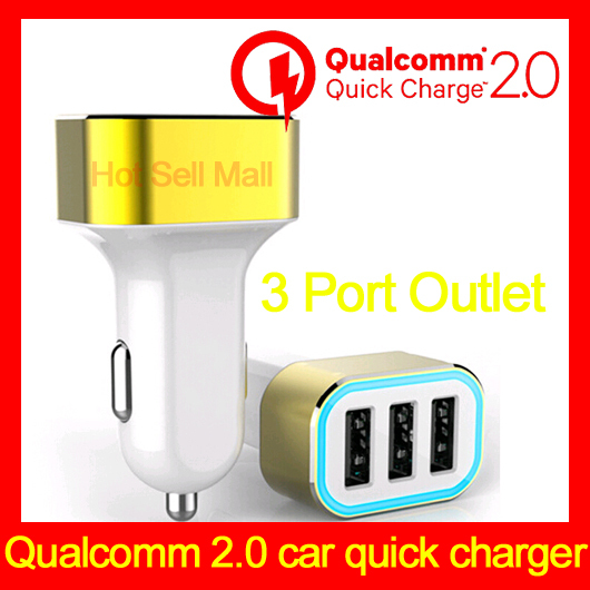 For Samsung NOTE 4 S5 S6 ANP New arrival Promotional Quick Charge 2.0 USB car charger with Qualcom certificated(China (Mainland))