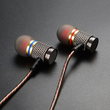 KZ ED2 Stereo Metal Earphones Noise Cancelling Earbuds In Ear Headset DJ XBS BASS Earphone HiFi Ear Phones Metallic Earbuds