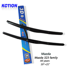"""Buy Car Windshield Wiper Blade Mazda 323 family (All years), 19""""+21"""",Natural rubber, Three-segmental type, Car Accessories for $16.17 in AliExpress store"""