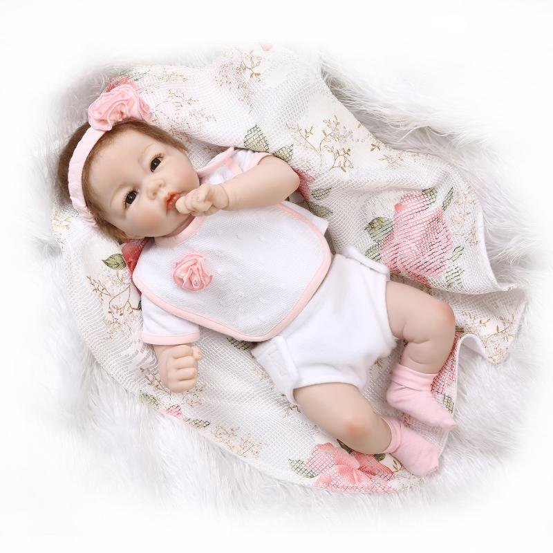 Soft vinly silicone reborn baby dolls toy birthday gift present for children newborn girls babies nude bedtime play house toy(China (Mainland))