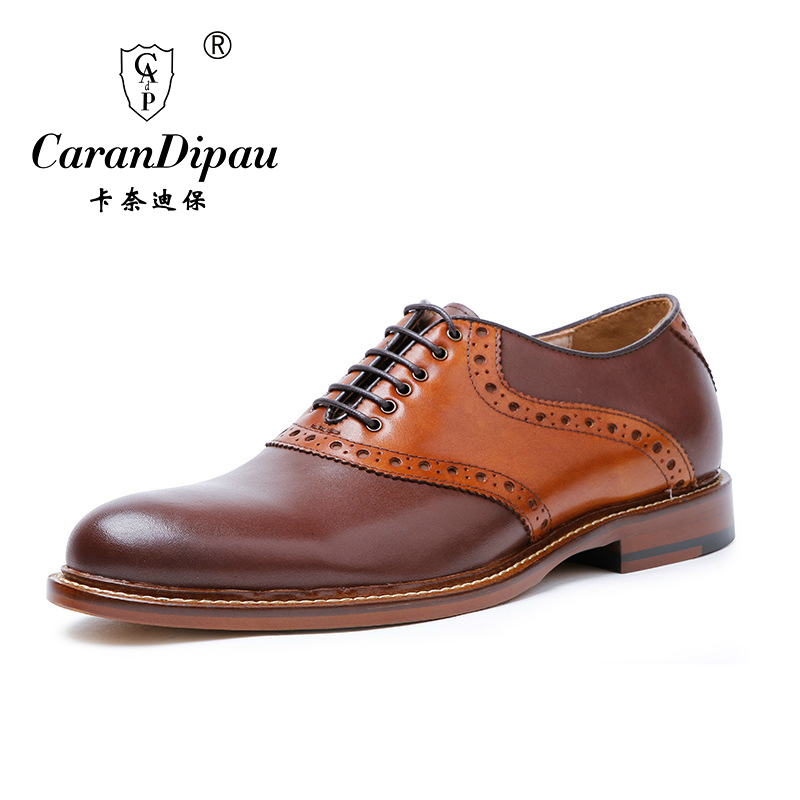 2017 New High Quality Genuine Leather Men Shoes Brogues, Lace-Up Bullock Business Men Oxfords Shoes Men Dress Shoes Flats(China (Mainland))