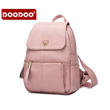 Buy DOODOO 3 colors Fashion Genuine Leather Backpacks Women Bags Preppy Style Backpack Girls School Bag Zipper Shoulder Women's Back for $35.88 in AliExpress store