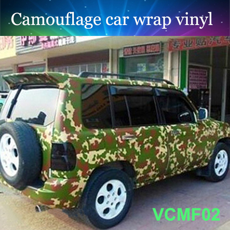 Top grade camo wrap 152cmx50cm forest green camouflage car vinyl film with best quality