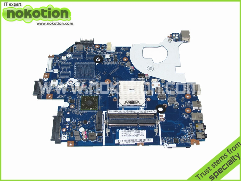 P5WS5 LA-6973P motherboard for Gateway nv55s Notebook PS System board / main board DDR3 100% tested(China (Mainland))