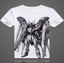 New Fashion Mobile Suit Gundam Pattern Shirt Anime Products Gundam T-shirt Men and woman Top Free Shipping LY