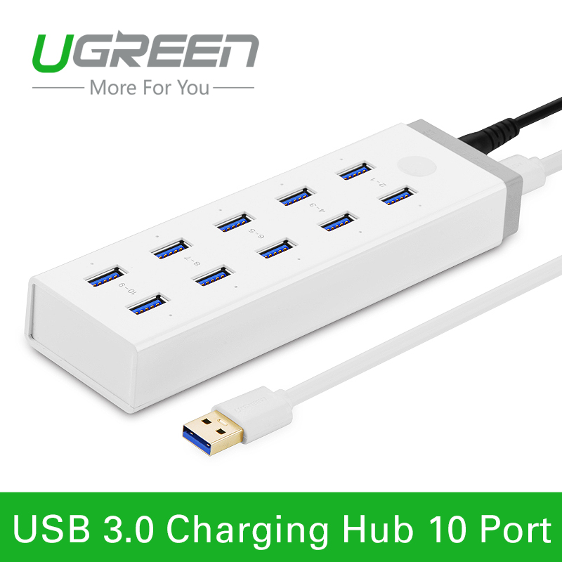 Ugreen New USB 3.0 Charging Hub 10 port with 12V 5A Power Adapter with BC1.2 for Computer / Laptop/Smartphone/Tablet<br><br>Aliexpress