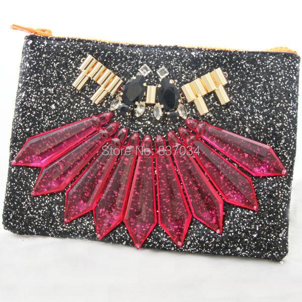 2014 NEW Arrivals Crystal Party Evening Clutch Glitter Brand Statement Women Luxury Handbag Birthday XMAS Gift - Elegantly Jewelry Store store