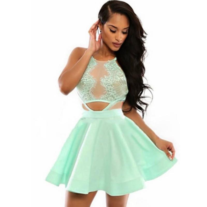 vestidos elegantes cortos de verano
