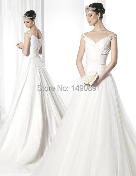 Hot sale a line na 60 plus size wedding dress v neck with for Plus size wedding dresses on sale
