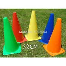 Pack of 5 pcs 32CM Flag Football Cylinder Traffic Barrel Mark Signpost Cone Barricades Obstacle Training Equipment(China (Mainland))