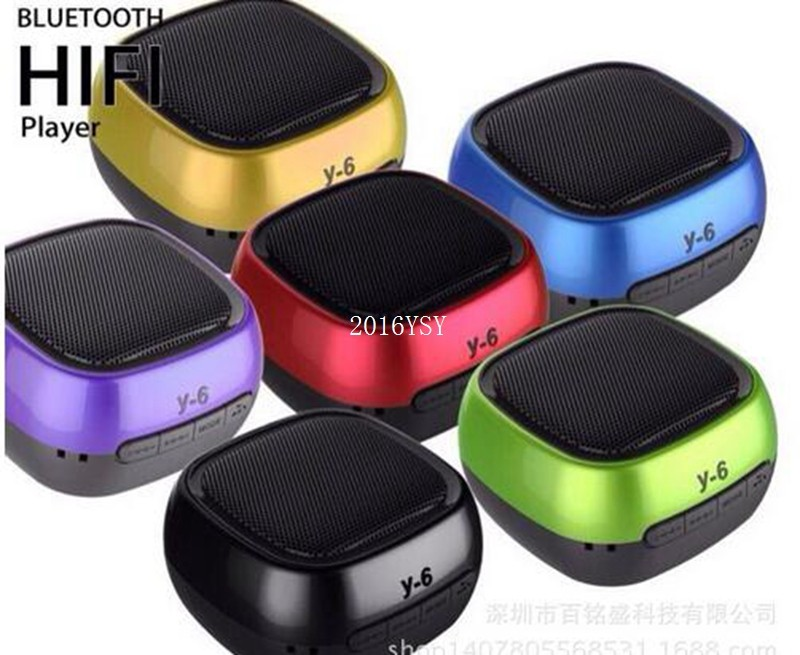 Portable Bluetooth Speaker Y6 Line in Audio Connection Wireless Speaker Support Hands-free Call FM Radio TF Card Music Sound Box(China (Mainland))