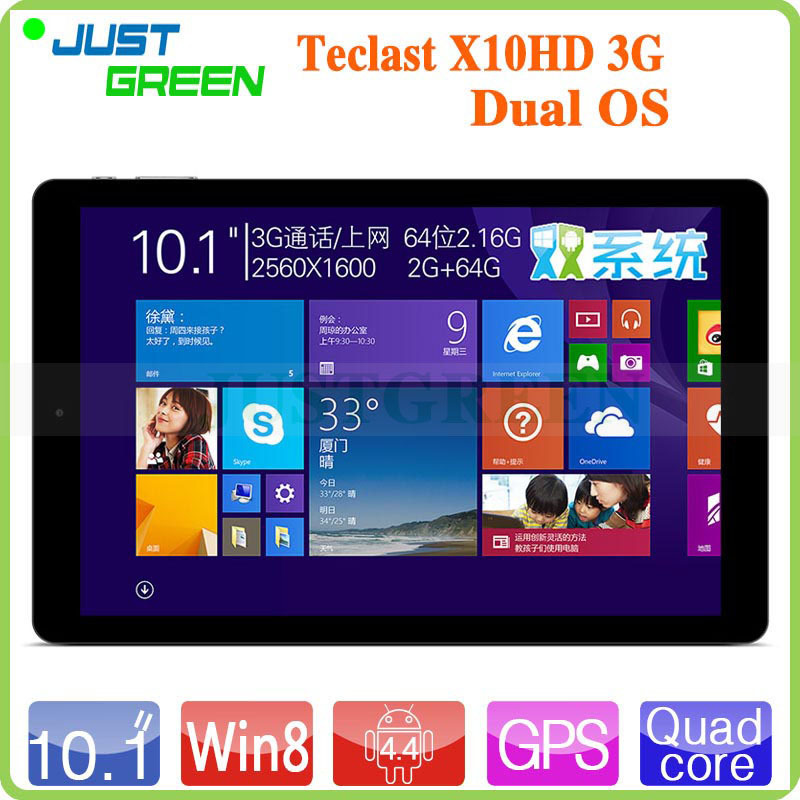 Keyboard instock! 10.1 inch Dual boot Teclast X10HD 3G Quad Core Tablet PC Z3736F 2GB RAM 64GB ROM IPS Retina phone call OTG GPS(China (Mainland))