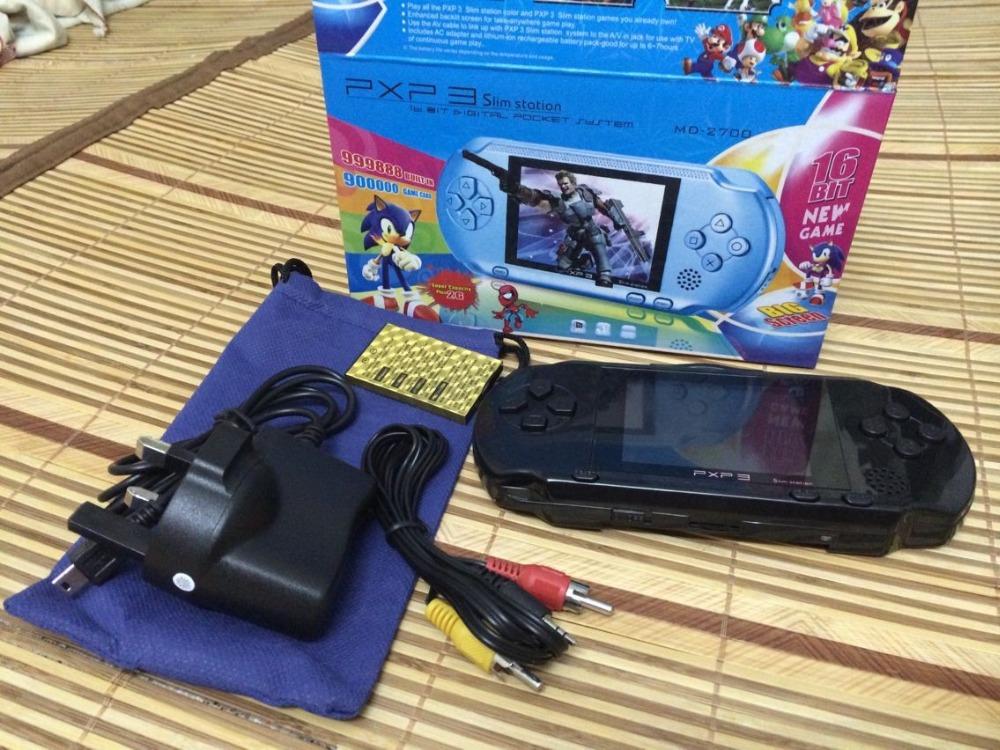 PXP3 Slim Station Pocket Game 16-Bit Video Games Player Handheld Game Console+Free Game Card(China (Mainland))
