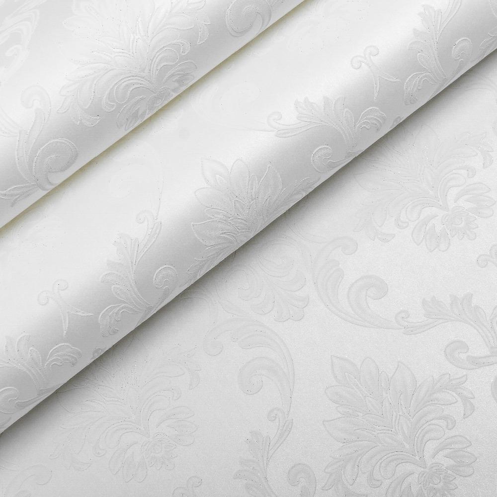 Victorian Modern Elegant Pattern Damask Wallpaper For Walls Living Room,White,Cream,Beige(China (Mainland))