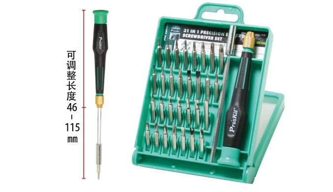 31 IN 1 Precise ScrewDriver Set Proskit SD-9802 Combination screwdrivers(China (Mainland))