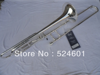 Wholesale Very good gift Very nice gifts Copy Bach 42BO sandhi tenor silver plated trombone instrument