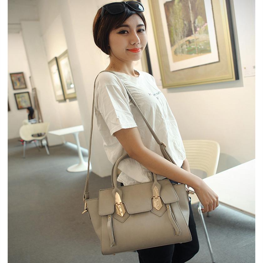 Promotion 2015 New Fashion Famous Designers Brand handbags women bags PU Leather Bat Pack Bags/shoulder tote - 520 Temptation store