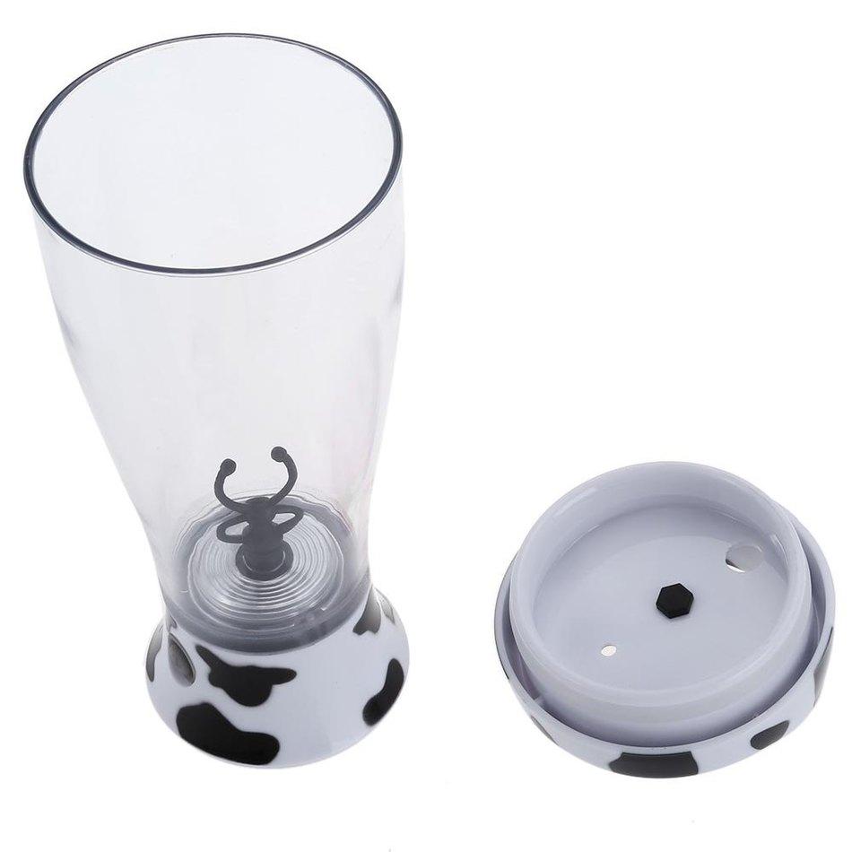 400ml Portable Electric Automatic Coffee Chocolate Milk Mixer Blender Self-stirring Mug Bottle Shaker support wholesale(China (Mainland))