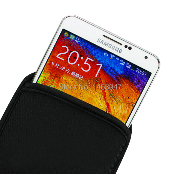 Universal Soft Flexible Neoprene Protective Pouch Case for Samsung Galaxy Note 3 N9000 / Note 2 N7100 Protect Sleeves Pouch Bag(China (Mainland))