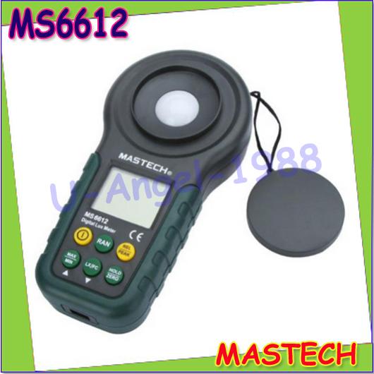1pcs Mastech MS6612 Digital Luxmeter Illuminometer Light Meter Foot Candle Auto Range Peak 200000 Lux Wholesale<br><br>Aliexpress