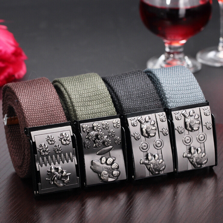 2015 fashion Men Canvas Outdoor Belt Military Equipment Cinturon Western Strap Men's Belts good quality (NPD-031)(China (Mainland))