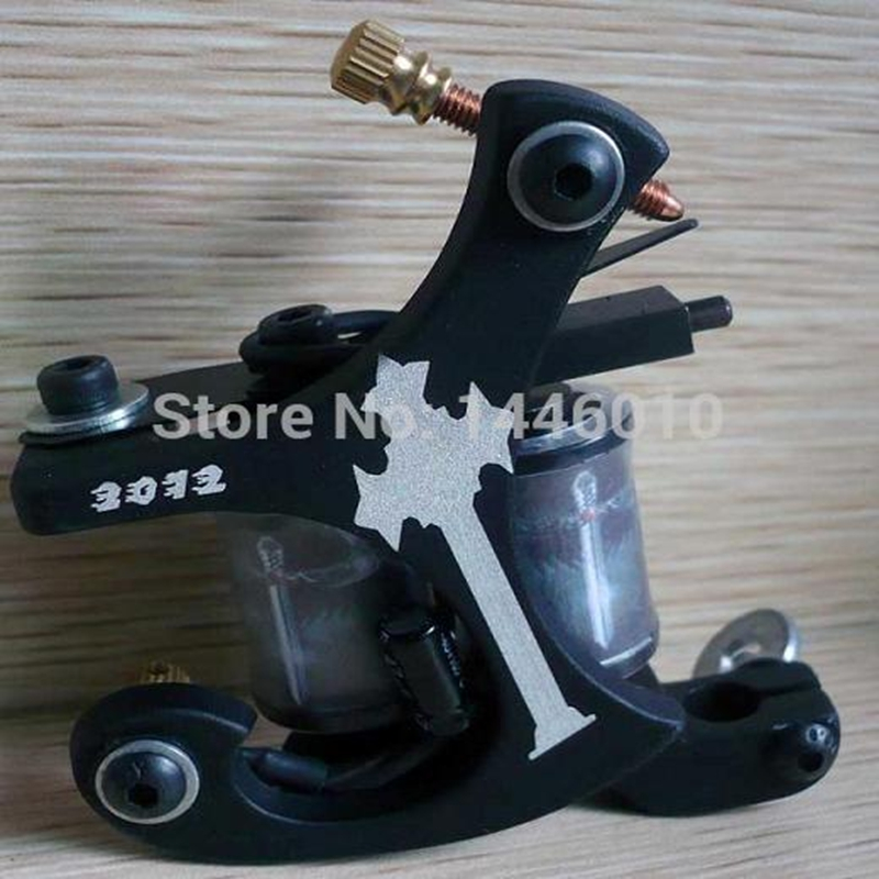 Crazy Carbon Steel Tattoo Gun Machine 10 Wrap Coil Liner Shader Pro Handmade - CrazyTattooSupplies store